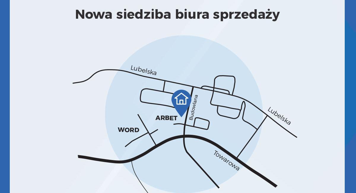 Uwaga! Nowa siedziba biura sprzedaży mieszkań!